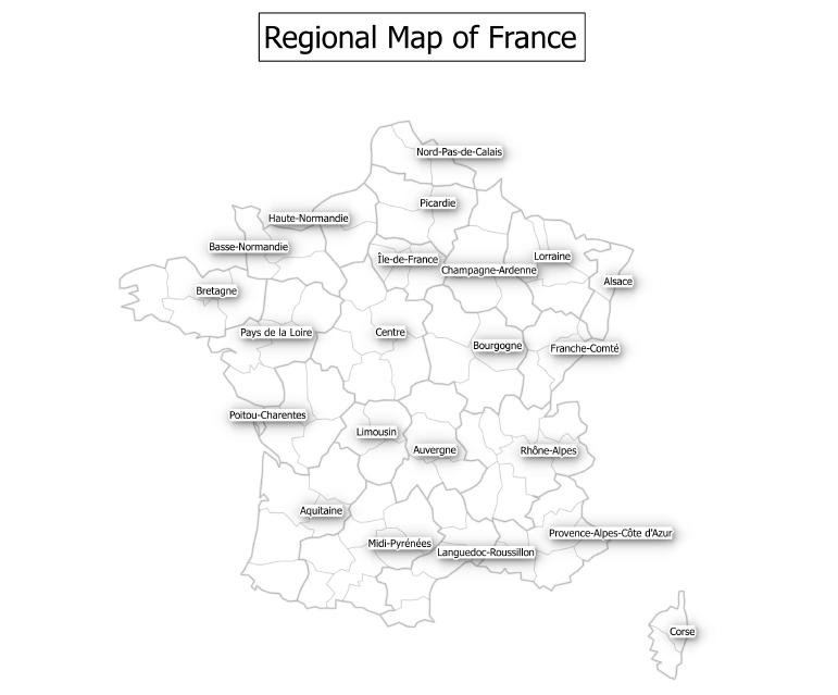 Regional Map of France